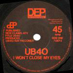UB40  I Won't Close My Eyes